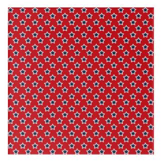 Blue & White Stars on Red Acrylic Print