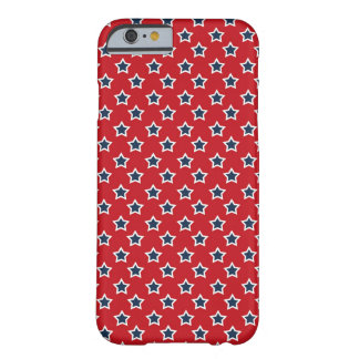 Blue & White Stars on Red Barely There iPhone 6 Case