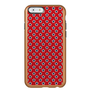 Blue & White Stars on Red Incipio Feather® Shine iPhone 6 Case
