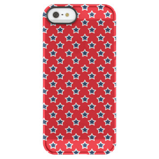 Blue & White Stars on Red Permafrost® iPhone SE/5/5s Case