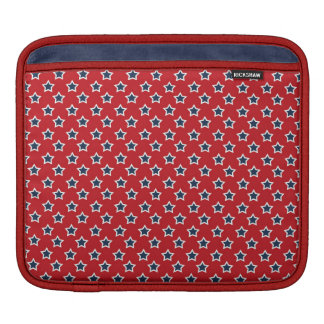 Blue & White Stars on Red Sleeves For iPads