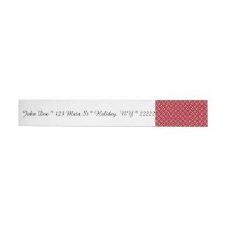 Blue & White Stars on Red Wraparound Address Label