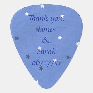 Blue White Stars Personalized Guitar Picks Favors