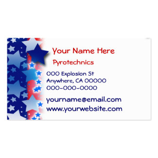 Blue White Stars Red Blue Stripes Business Card Template