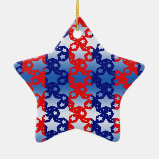 Blue White Stars Red Blue Stripes Ceramic Star Decoration