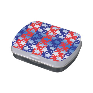 Blue White Stars Red Blue Stripes Jelly Belly Candy Tin