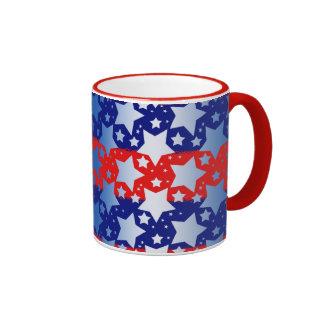 Blue White Stars Red Blue Stripes Coffee Mug