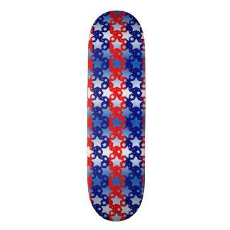 Blue White Stars Red Blue Stripes Skateboard Deck