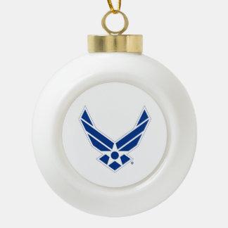 Blue & White United States Air Force Logo Ceramic Ball Decoration