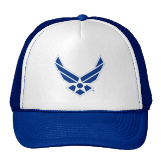 Blue & White United States Air Force Logo Trucker Hats