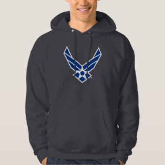 Blue & White United States Air Force Logo Hoodie