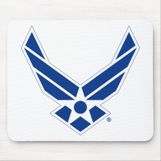 Blue & White United States Air Force Logo Mouse Pad