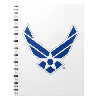 Blue & White United States Air Force Logo Notebooks