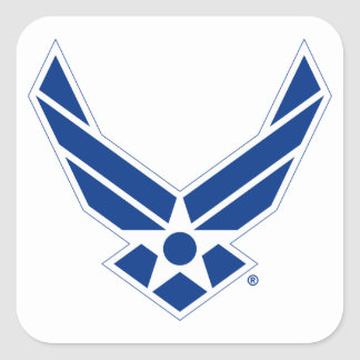 Blue & White United States Air Force Logo Square Sticker