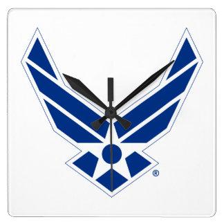 Blue & White United States Air Force Logo Wall Clock