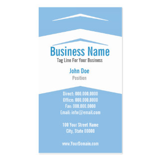 Blue White Vertical Professional Business Card