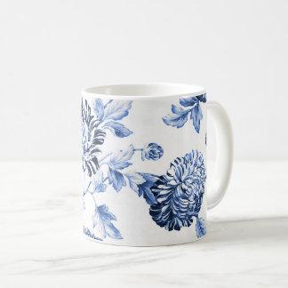 Blue & White Vintage Floral Toile No.2 Coffee Mug
