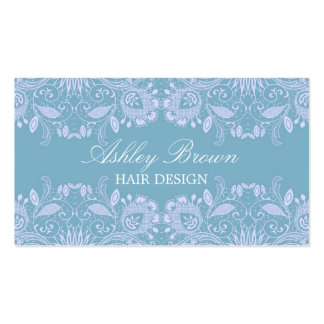 Blue & White Vintage Lace Business Card