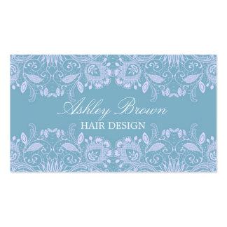 Blue & White Vintage Lace Business Card