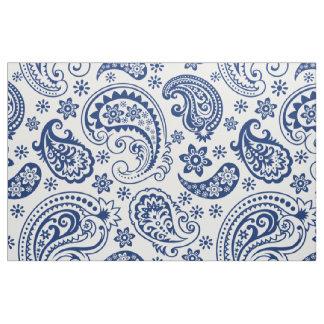Blue & White Vintage Paisley Pattern