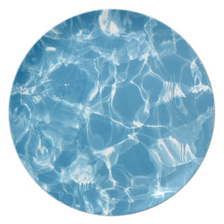 Blue White Water Top  Ripples Dinner Plates