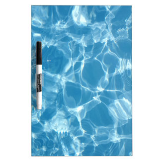 Blue White Water Top  Ripples Dry-Erase Whiteboard