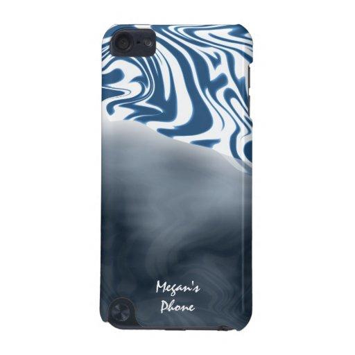Blue White Zebra Print IPod Touch Case Cover