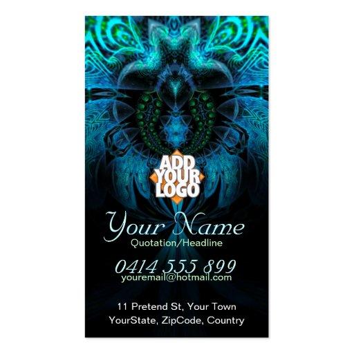 Blue Widow Fractal Business Card
