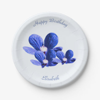 Blue Wild Flowers 7 Inch Paper Plate