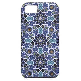 Blue Wild Flowers Mosaic iPhone 5 Case