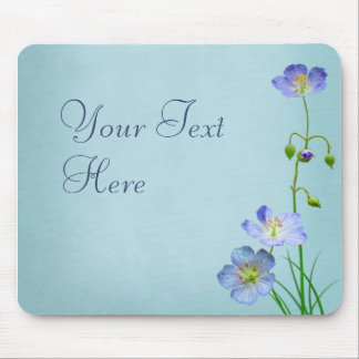 Blue Wildflower Mouse Pad