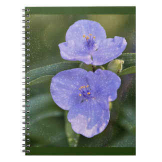 Blue Wildflower Spiral Notebooks