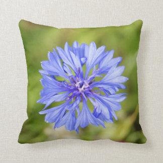 """Blue Wildflower, Throw Pillow 16"""" x 16"""""""