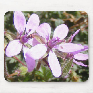 Blue Wildflowers Mouse Pads