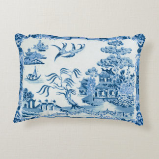 Blue Willow Accent Pillow