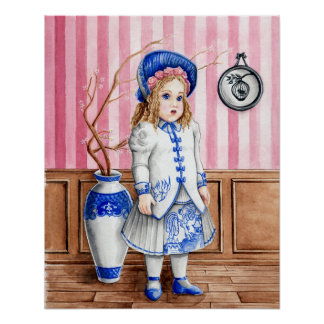 Blue Willow Bebe Bru Art Print