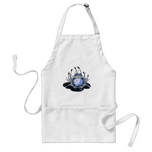 Blue Willow Bull Frog Apron