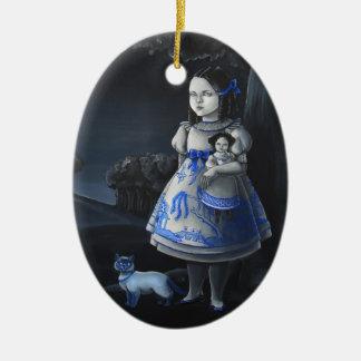Blue Willow Ceramic Ornament