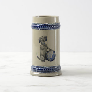 Blue Willow Dachshund Stein