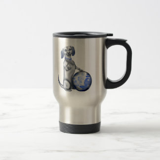 Blue Willow Dachshund Travel Mug