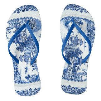 Blue Willow Flip Flops - You Have Arrived