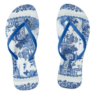Blue Willow Flip Flops - You Have Arrived Thongs