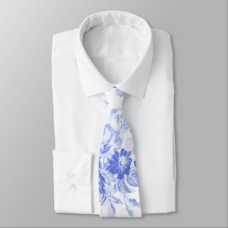 Blue Willow Floral - Neck Tie