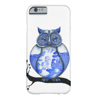 Blue Willow Owl Barely There iPhone 6 Case