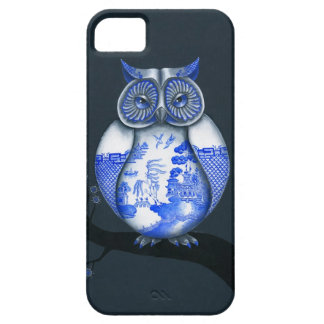 Blue Willow Owl iPhone 5 Cases