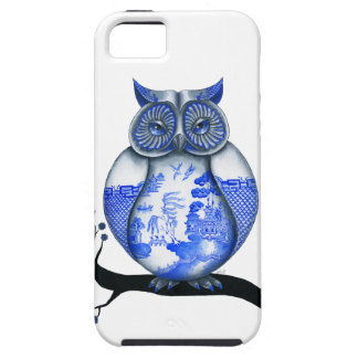 Blue Willow Owl Tough iPhone 5 Case