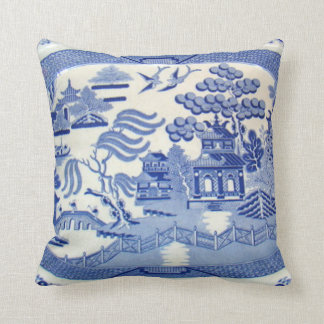 Blue Willow Pillow - The Perfect size and color. Throw Cushions