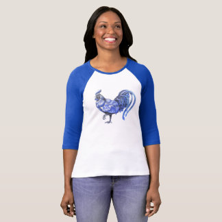 Blue Willow Rooster Shirt