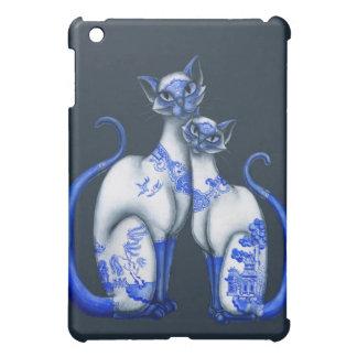 Blue Willow Siamese Cats iPad Mini Case