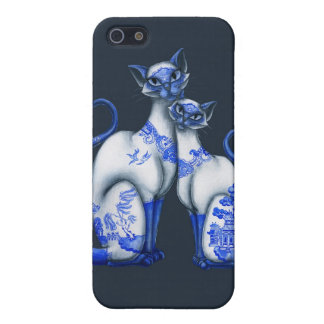 Blue Willow Siamese Cats iPhone 5/5S Cover